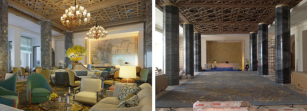 Four Seasons Dubai Lobby Lounge Rendering and Install - interior design by BAMO