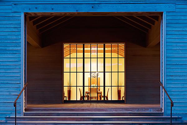 Santa Lucia Preserve - interior design by BAMO - dining room exterior