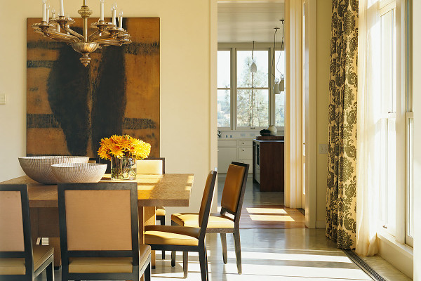 West Dry Creek Residence Healdsburg Dining Room - interior design by BAMO