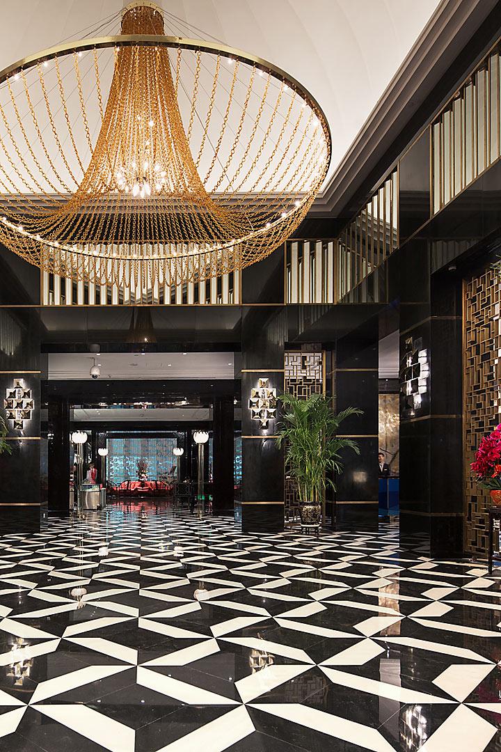 Han Yue Lou Solis Nanjing Entry Lobby - interior design by BAMO