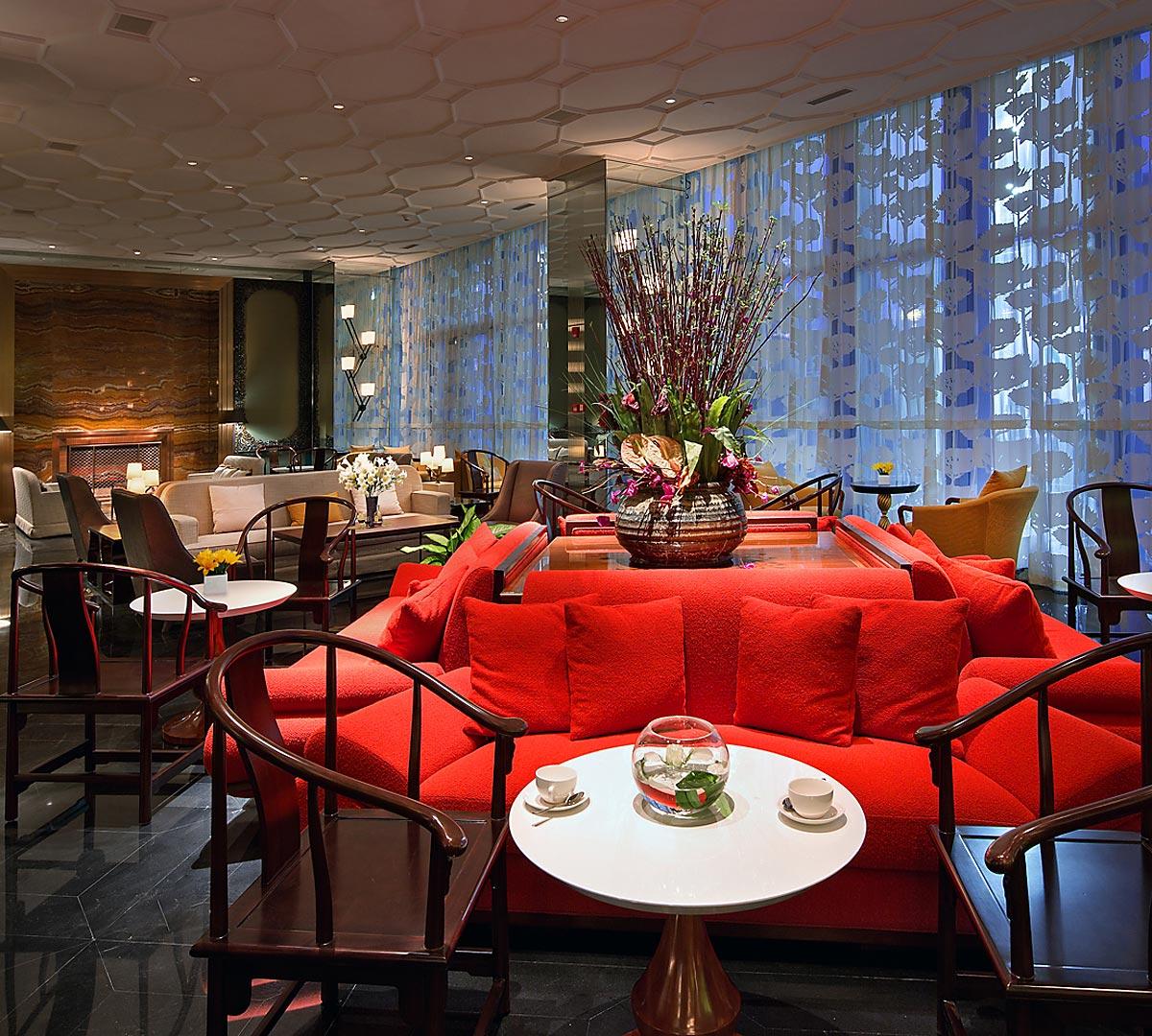 Han Yue Lou Solis Nanjing Lobby Lounge - interior design by BAMO