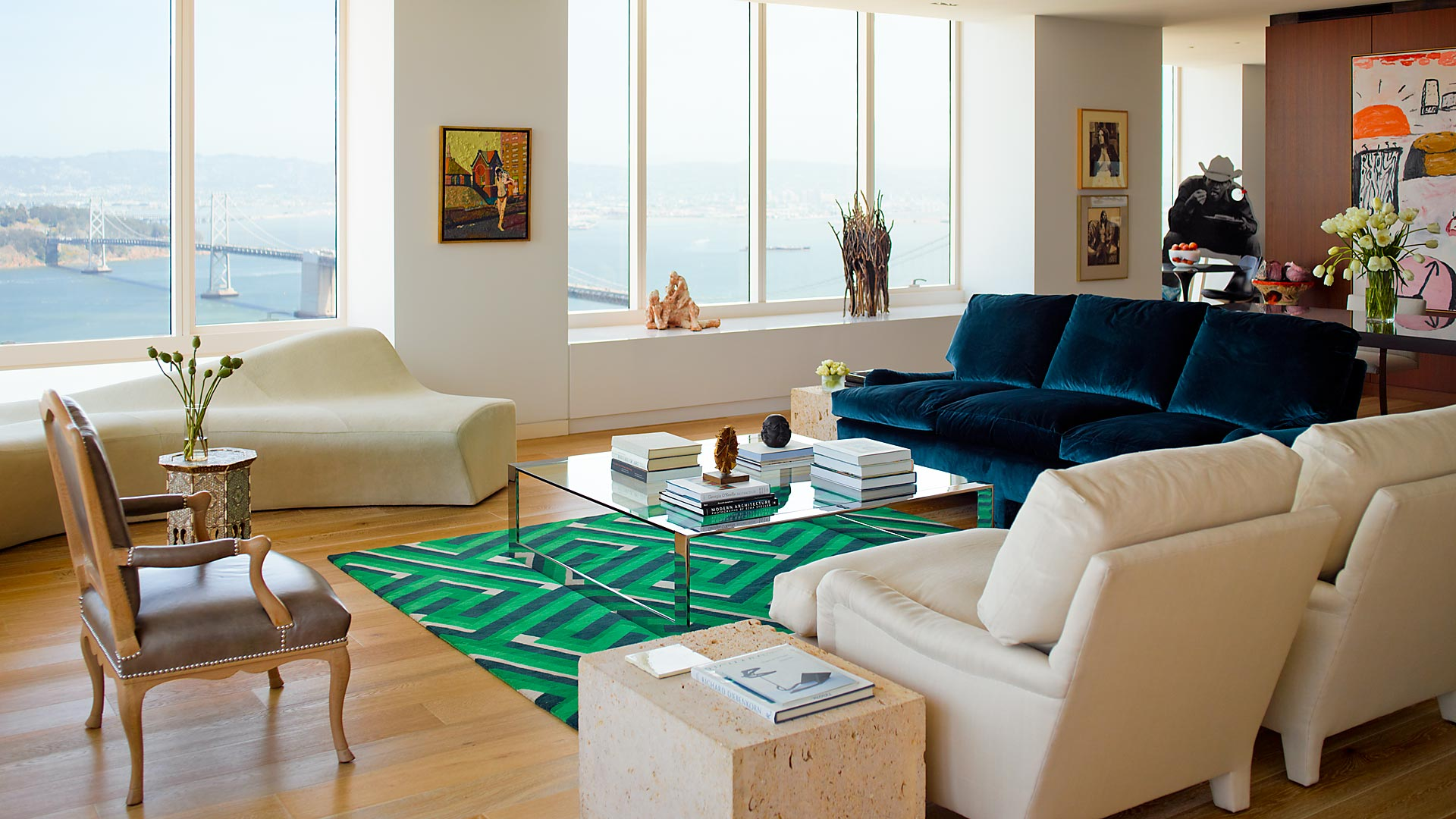 Millennium Tower San Francisco Residence Living Room- interior design by BAMO