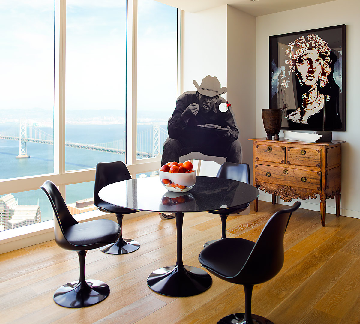 Millennium Tower San Francisco Residence Kitchen Table - interior design by BAMO